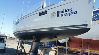 After antifouling, cut and polish